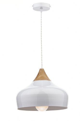Gaucho 1 Light Pendant White (Class 2 Double Insulated) BXGAU0102-17